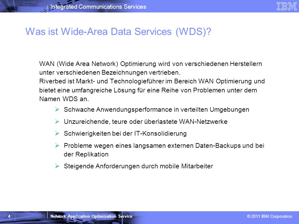 Was ist Wide-Area Data Services (WDS)
