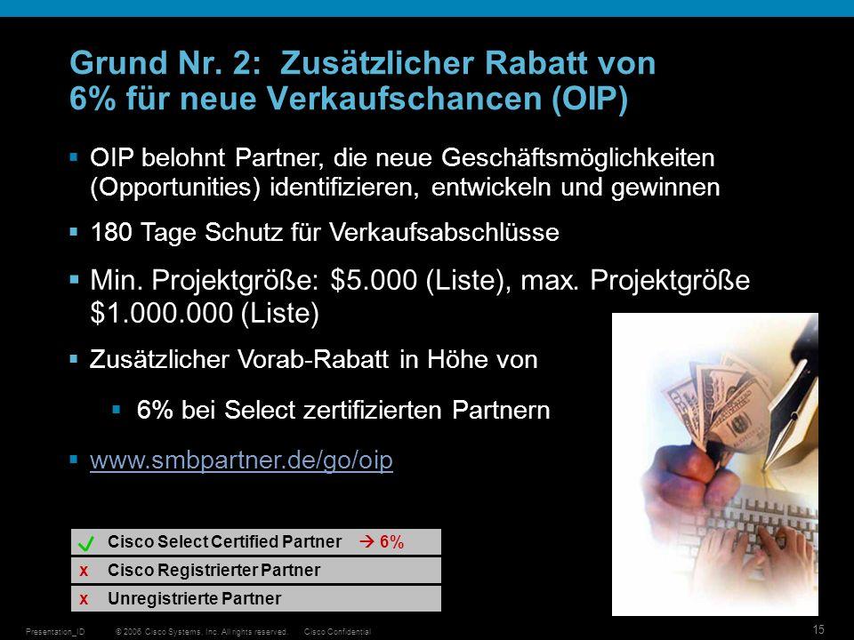 Grund Nr. 2: Zusätzlicher Rabatt von 6% für neue Verkaufschancen (OIP)