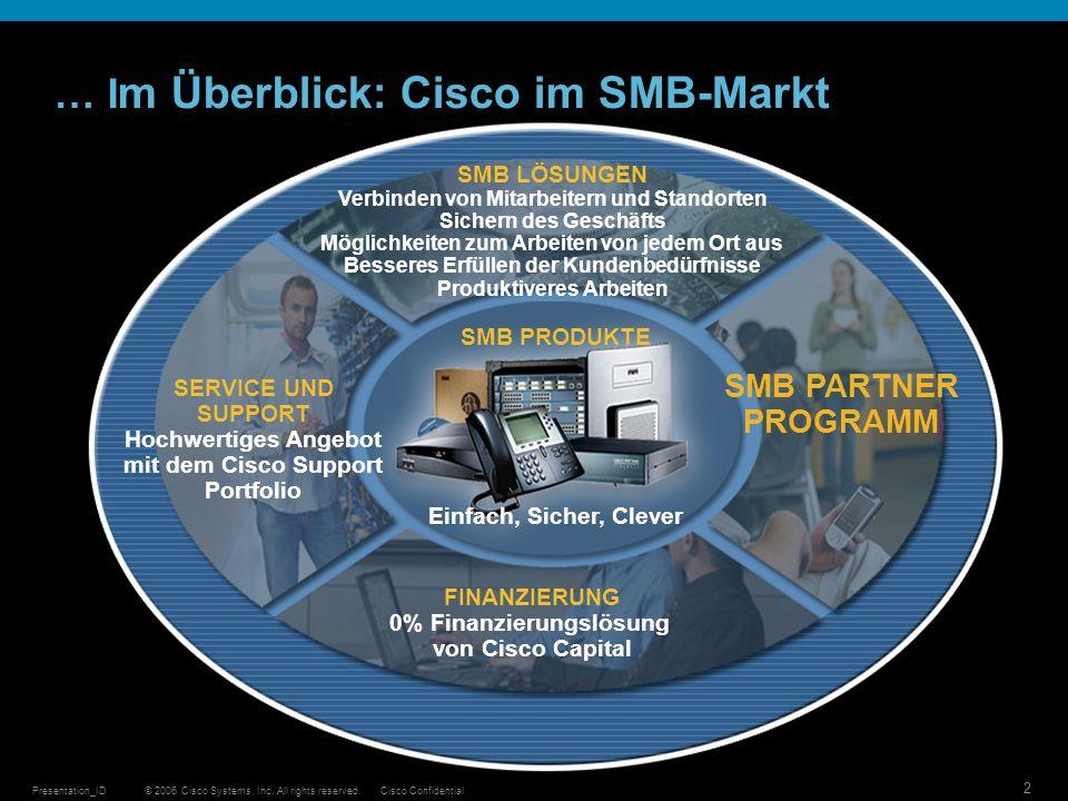 … Im Überblick: Cisco im SMB-Markt