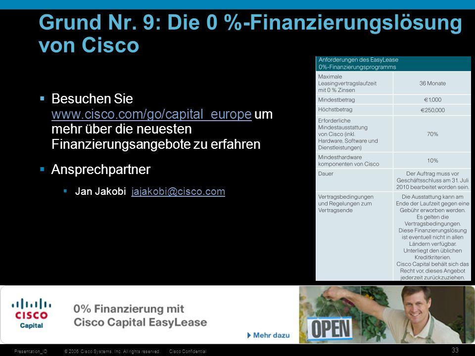 Grund Nr. 9: Die 0 %-Finanzierungslösung von Cisco