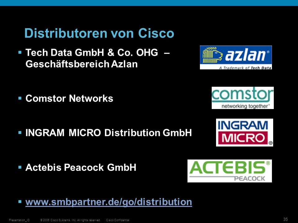 Distributoren von Cisco