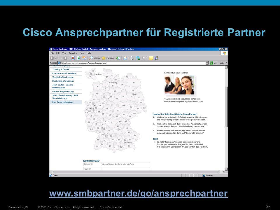 Cisco Ansprechpartner für Registrierte Partner