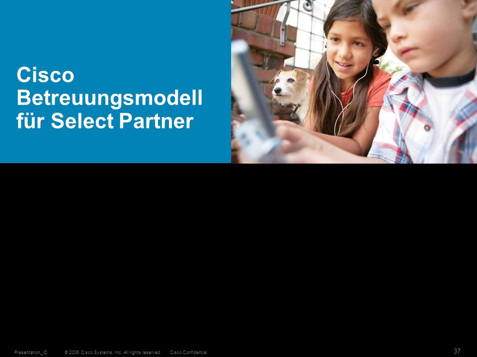 Cisco Betreuungsmodell für Select Partner