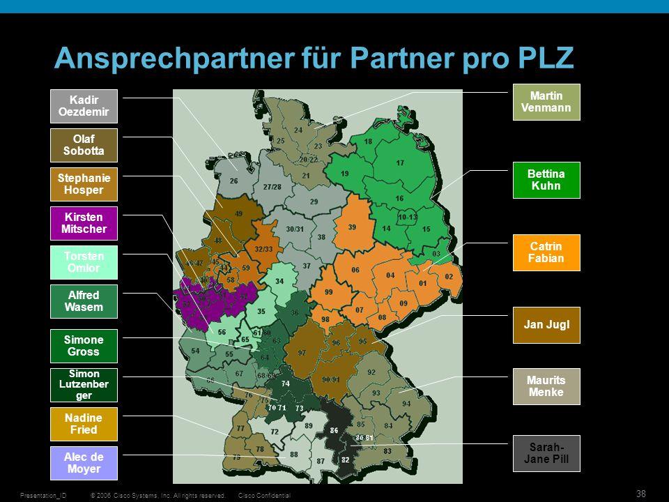 Ansprechpartner für Partner pro PLZ