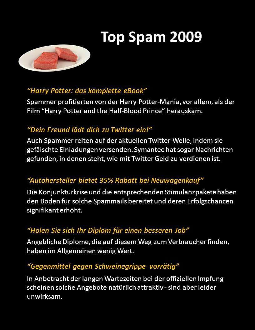 Top Spam 2009 Harry Potter: das komplette eBook