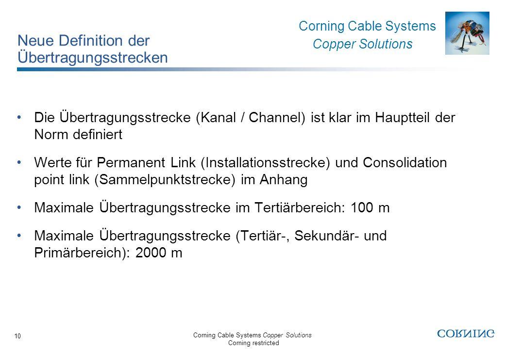 Neue Definition der Übertragungsstrecken