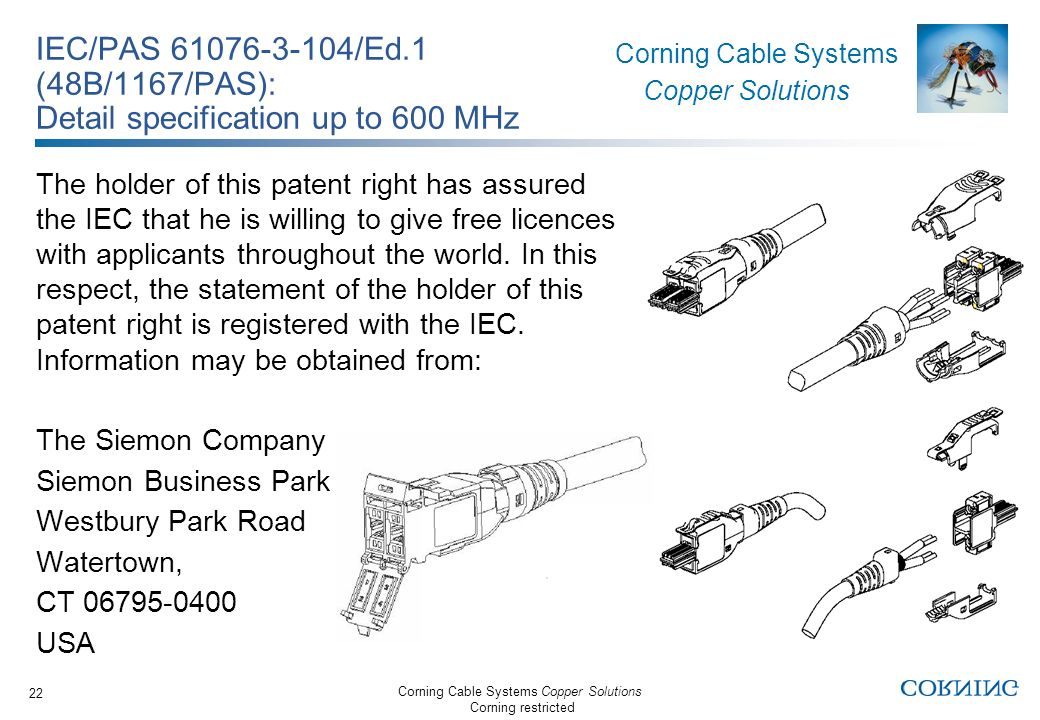 IEC/PAS 61076-3-104/Ed.1 (48B/1167/PAS): Detail specification up to 600 MHz