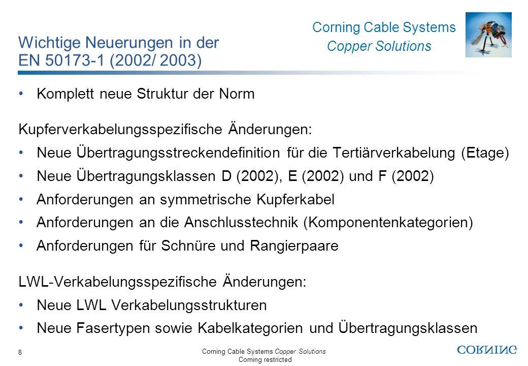 Wichtige Neuerungen in der EN 50173-1 (2002/ 2003)