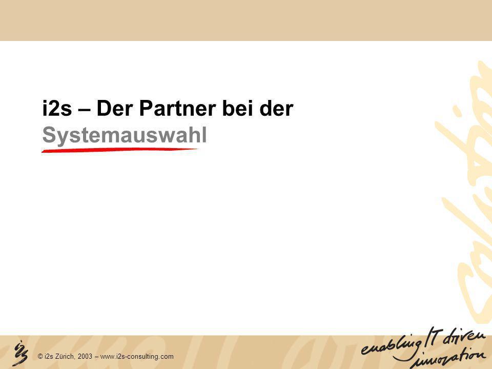i2s – Der Partner bei der Systemauswahl