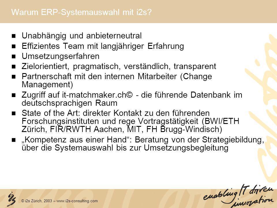 Warum ERP-Systemauswahl mit i2s