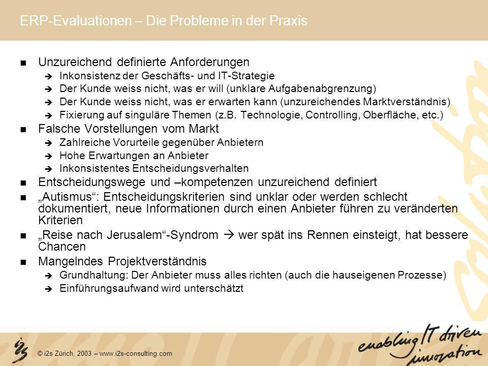 ERP-Evaluationen – Die Probleme in der Praxis