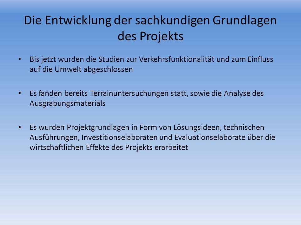Die Entwicklung der sachkundigen Grundlagen des Projekts