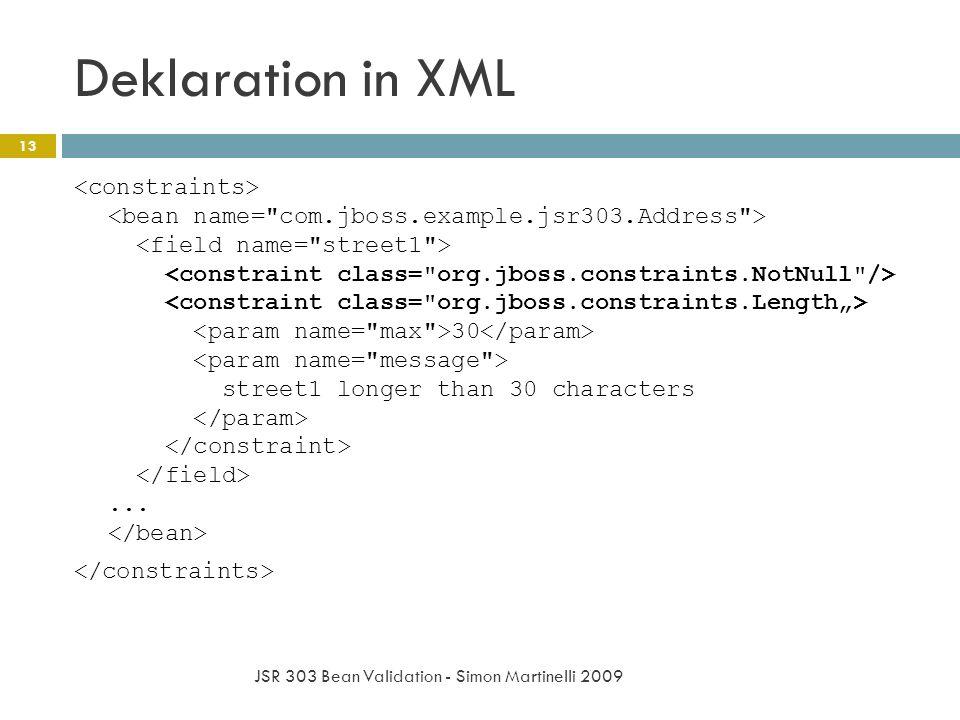 Deklaration in XML