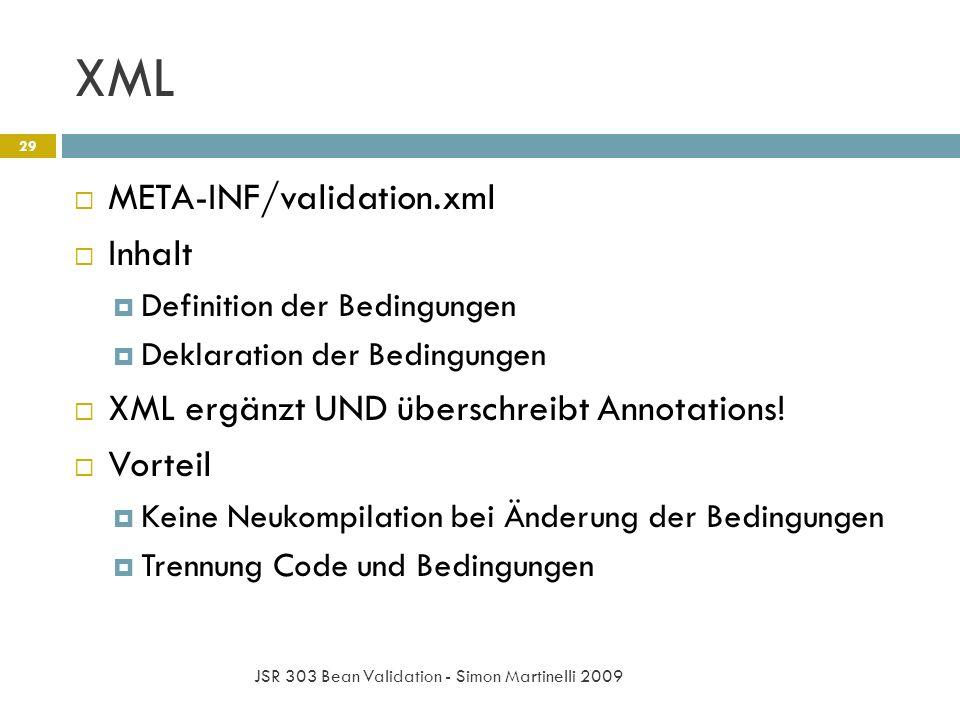 XML META-INF/validation.xml Inhalt