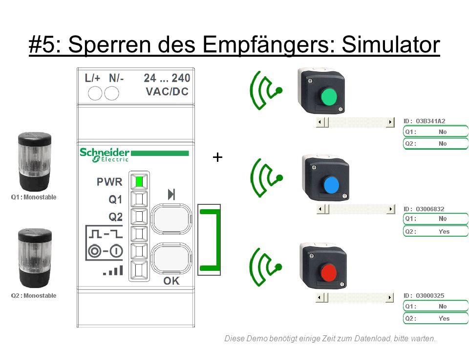 #5: Sperren des Empfängers: Simulator