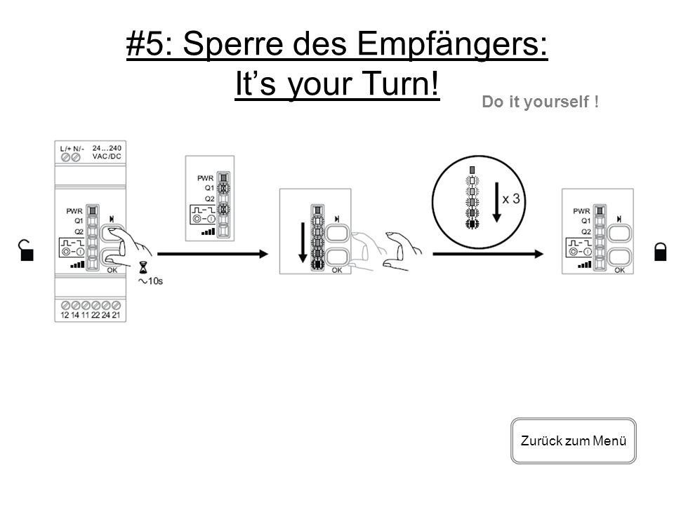 #5: Sperre des Empfängers: It's your Turn!