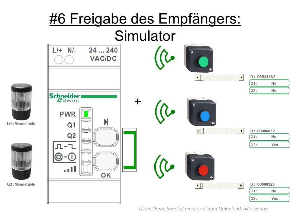 #6 Freigabe des Empfängers: Simulator