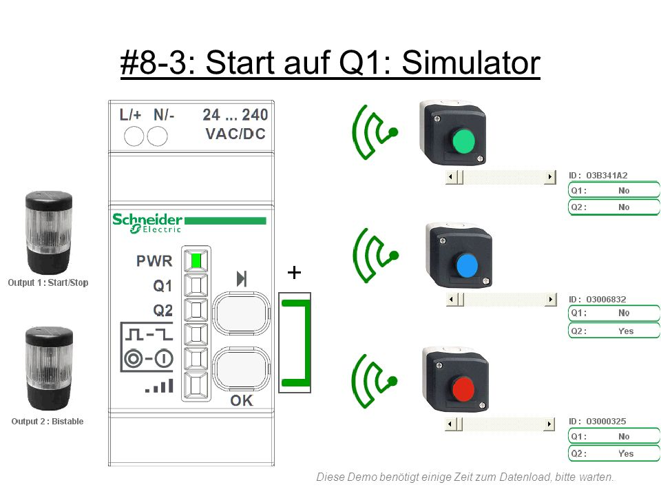 #8-3: Start auf Q1: Simulator