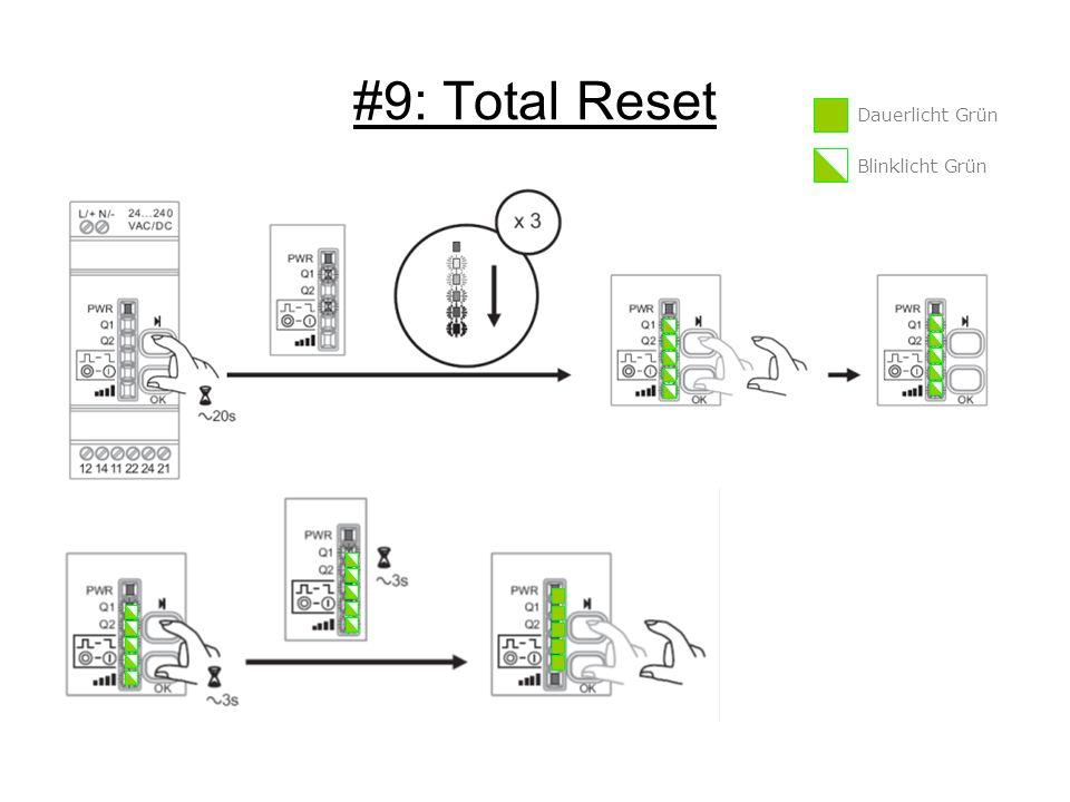 #9: Total Reset Dauerlicht Grün Blinklicht Grün