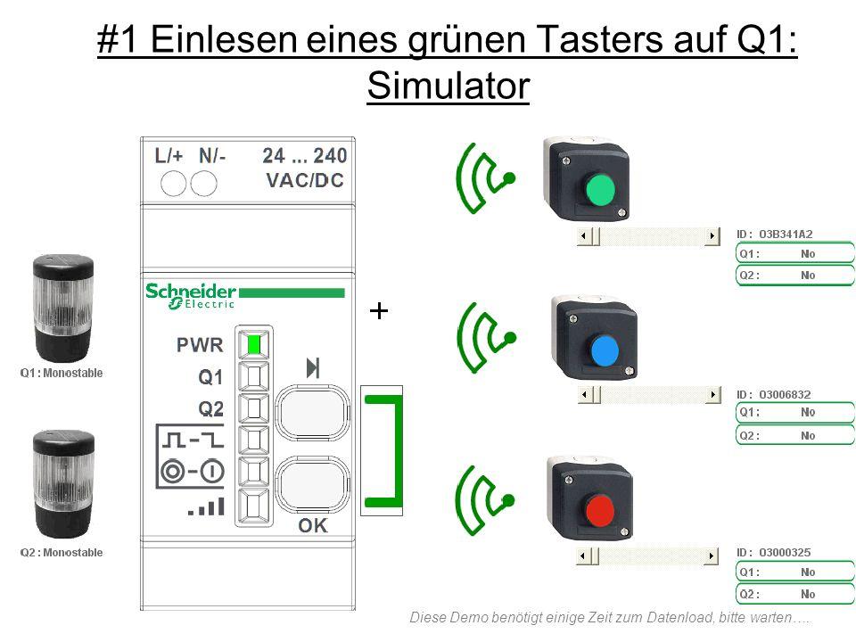 #1 Einlesen eines grünen Tasters auf Q1: Simulator