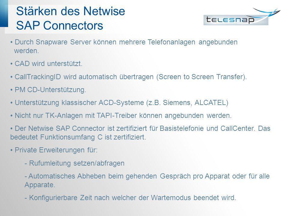 Stärken des Netwise SAP Connectors