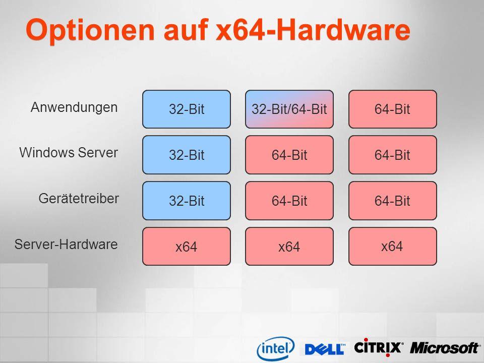 Optionen auf x64-Hardware