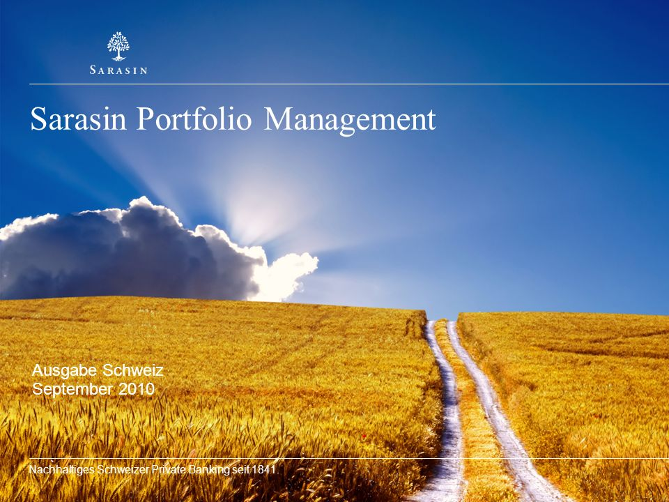 Sarasin Portfolio Management