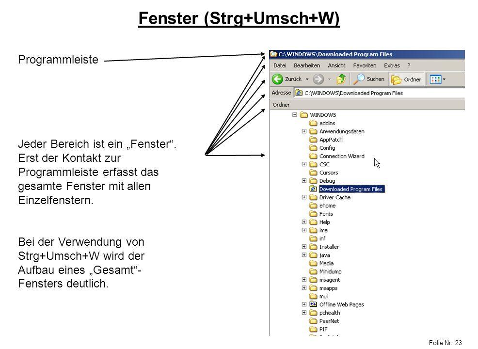 Fenster (Strg+Umsch+W)