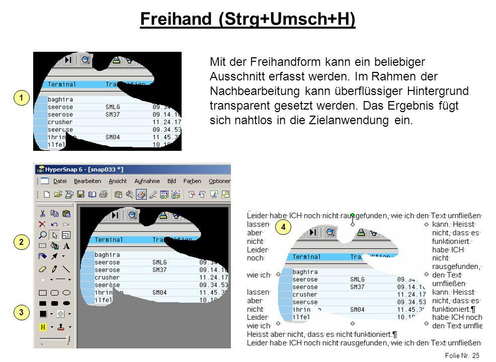 Freihand (Strg+Umsch+H)