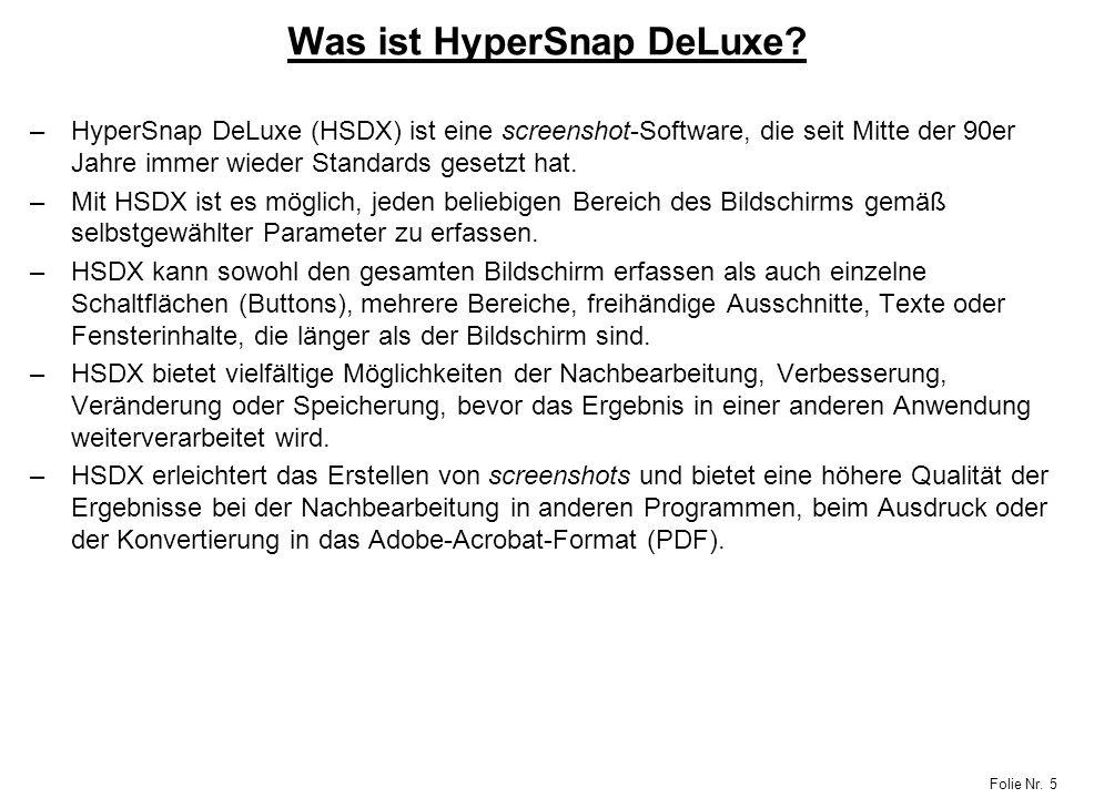Was ist HyperSnap DeLuxe