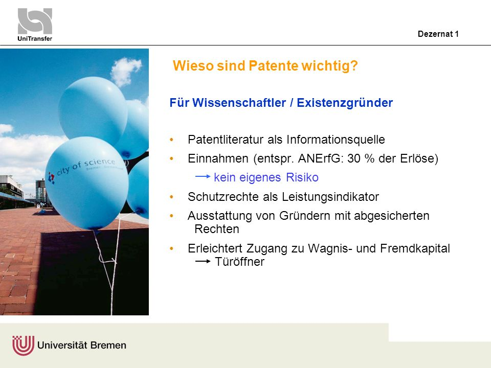 Wieso sind Patente wichtig