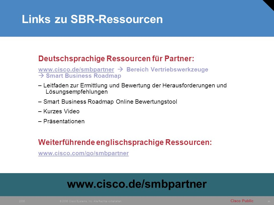 Links zu SBR-Ressourcen