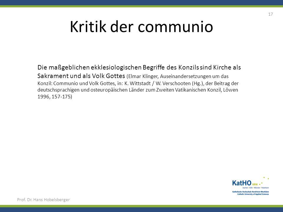 Kritik der communio