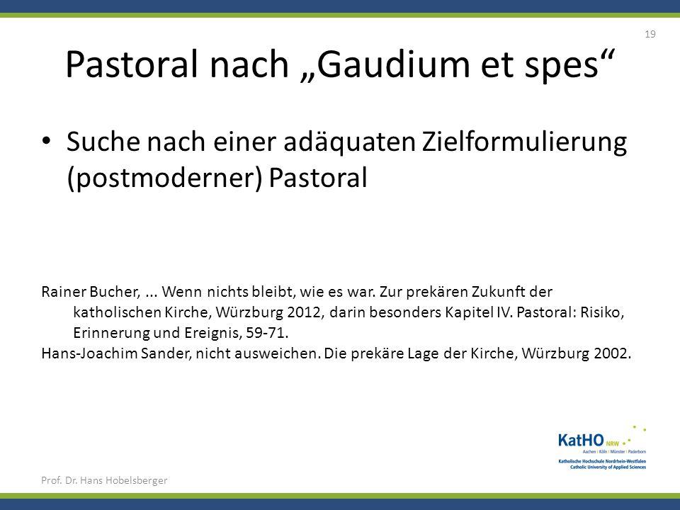 "Pastoral nach ""Gaudium et spes"