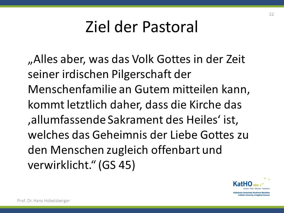 Ziel der Pastoral