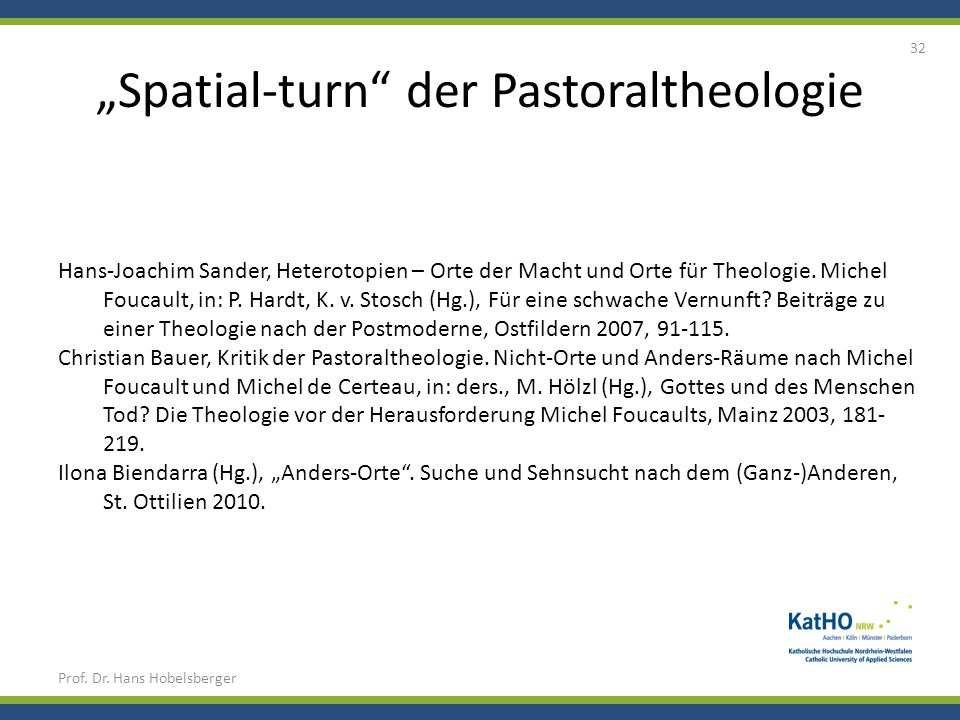 """Spatial-turn der Pastoraltheologie"