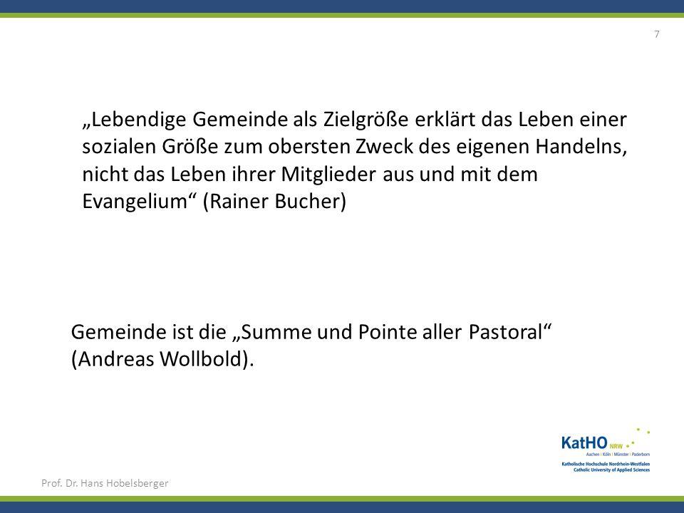 """Gemeinde ist die """"Summe und Pointe aller Pastoral (Andreas Wollbold)."""