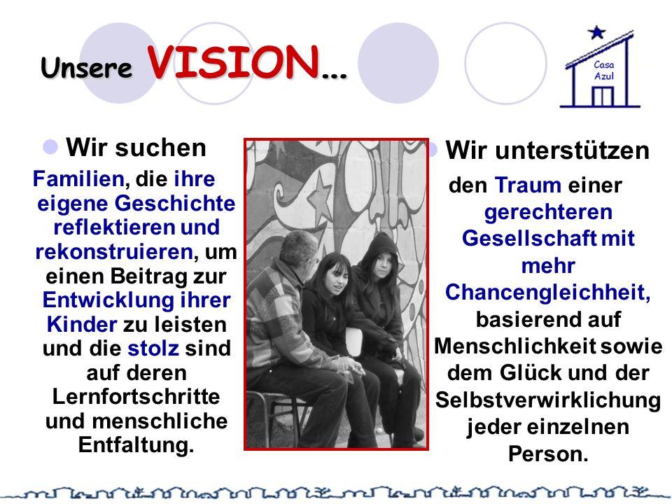 Unsere VISION… Wir suchen Wir unterstützen