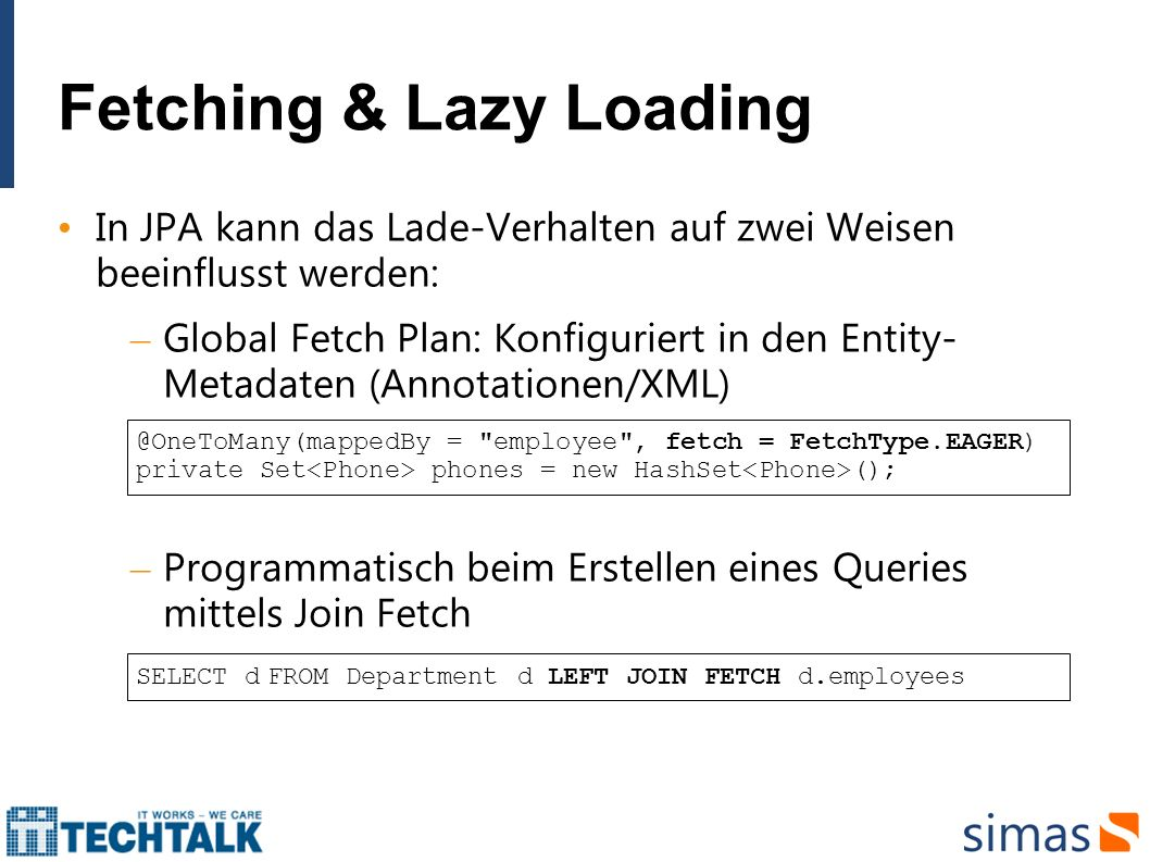 Fetching & Lazy Loading