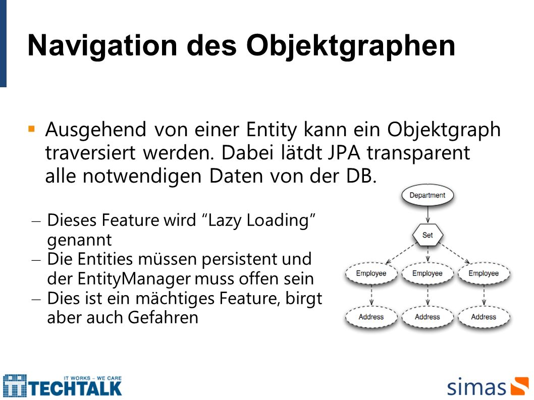Navigation des Objektgraphen