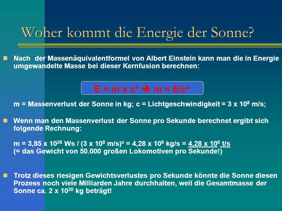 Woher kommt die Energie der Sonne