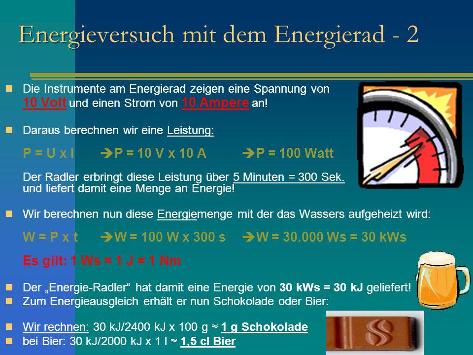 Energieversuch mit dem Energierad - 2