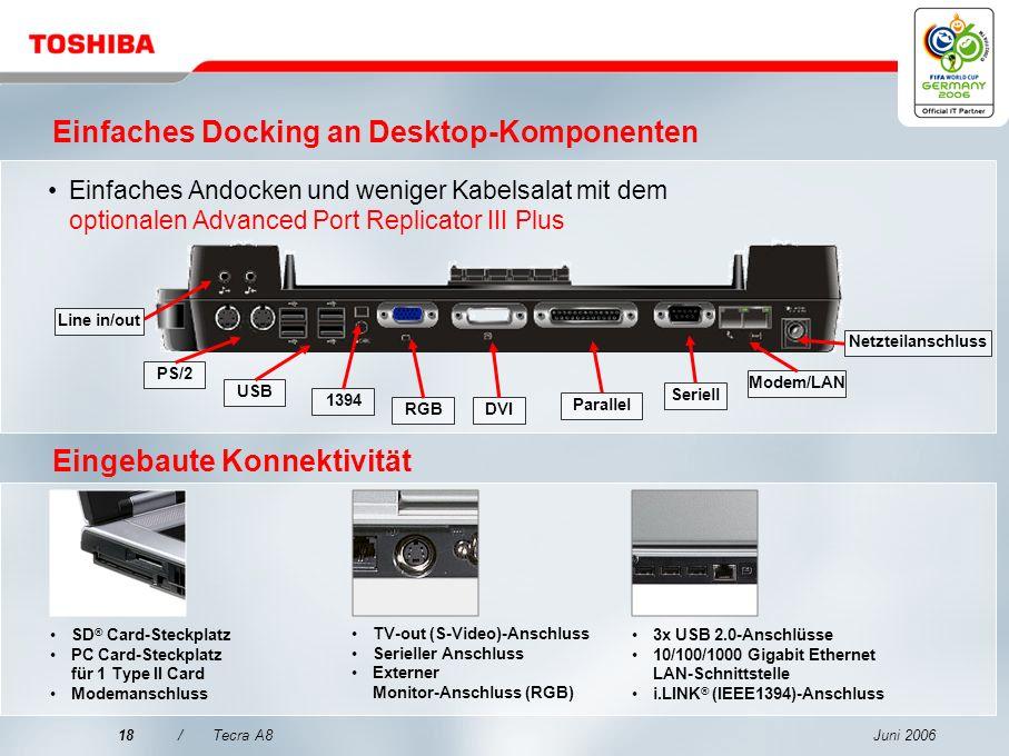 Einfaches Docking an Desktop-Komponenten