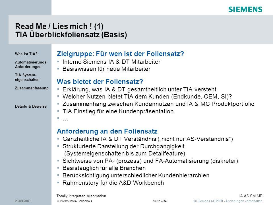 Read Me / Lies mich ! (1) TIA Überblickfoliensatz (Basis)