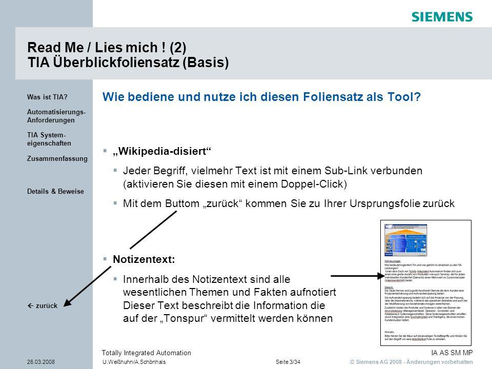 Read Me / Lies mich ! (2) TIA Überblickfoliensatz (Basis)