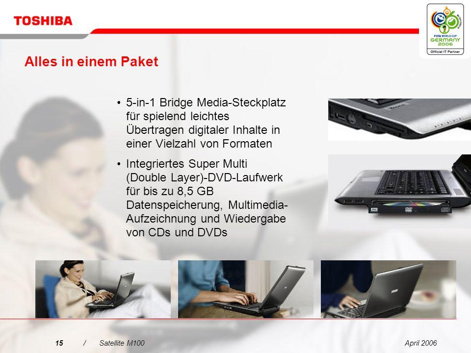 Alles in einem Paket5-in-1 Bridge Media-Steckplatz für spielend leichtes Übertragen digitaler Inhalte in einer Vielzahl von Formaten.