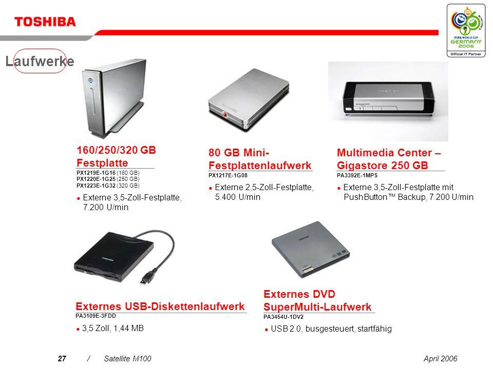 Laufwerke 160/250/320 GB Festplatte PX1219E-1G16 (160 GB) PX1220E-1G25 (250 GB) PX1223E-1G32 (320 GB)