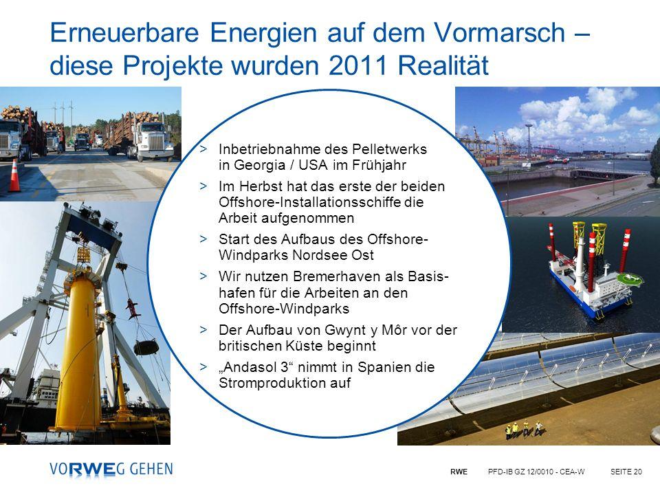Erneuerbare Energien auf dem Vormarsch – diese Projekte wurden 2011 Realität