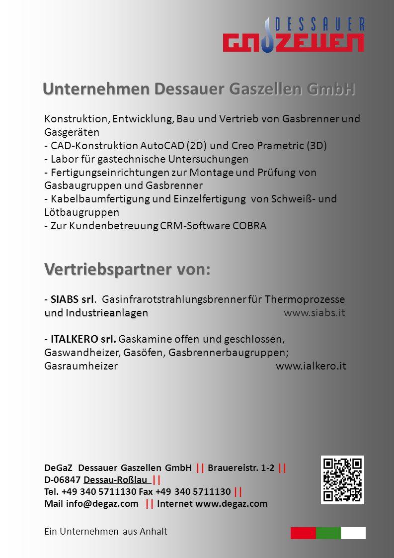 Unternehmen Dessauer Gaszellen GmbH
