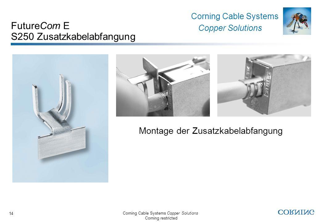 FutureCom E S250 Zusatzkabelabfangung